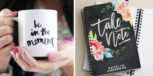 Tiny Prints: FREE Custom Mug Or Notebook (Just Pay Shipping)