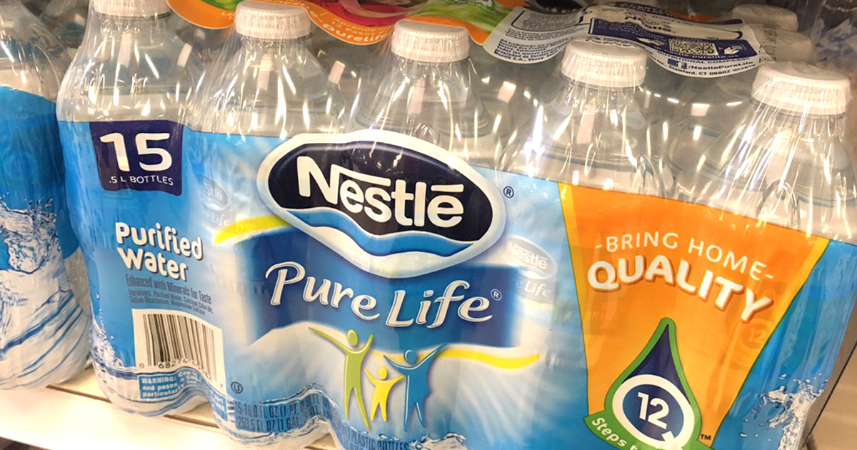 New Nestlé Pure Life Purified Water Coupons = Only 16¢ Per Bottle At