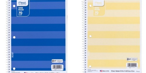 Target.com: 70-Sheet Mead Notebooks ONLY 38¢