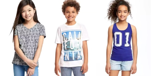 Old Navy: $5 Tees, Tanks, Shorts & More (+ Free Shipping w/ $25 Purchase)