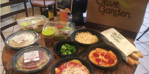 Score 4 Olive Garden Entrees, 2 Soups/Salads, 4 Breadsticks AND 1 Kids' Meal for Under $27