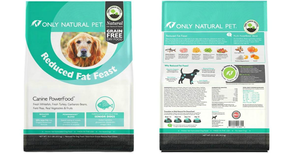 Only Natural Pet dog food