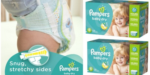 Amazon Family: Pampers Baby Dry Size 6 Diapers 128-Count Box Only $14.40 Shipped (Just 11¢ Each)