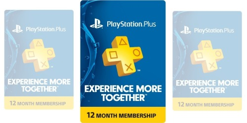Amazon: 1-Year PlayStation Plus Membership Only $47.99
