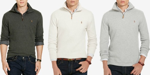 Macy's: Polo Ralph Lauren Men's Sweater Only $21 AND Pants Only $10.49 (Regularly $89+!)