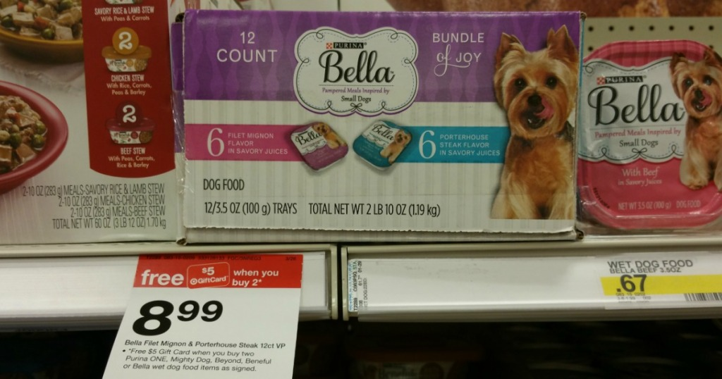 Bella dog food at Target