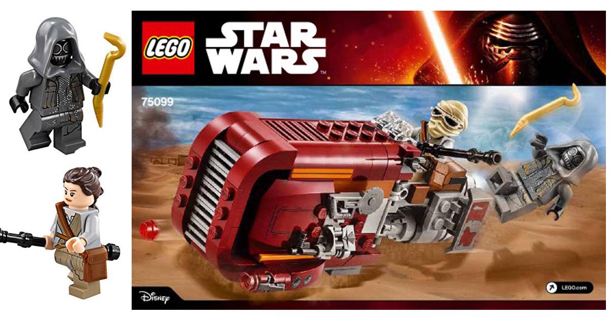 Walmartcom Lego Star Wars Reys Speeder Kit Just 1076 Hip2save