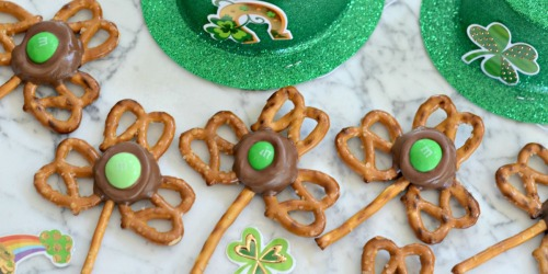 4-Ingredient Easy Shamrock Pretzel Treats for St. Patrick's Day