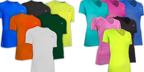 3-Pack Men's and Women's Under Armour Fitness T-Shirts Only $36 Shipped