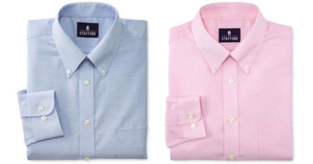 Mens Stafford Dress Shirts