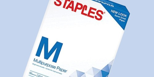 Staples Multipurpose Paper Ream Only 1¢ (After Easy Rebate)