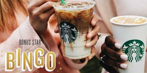 Starbucks Rewards Members: Score Free Space on Bonus Star Bingo Promo