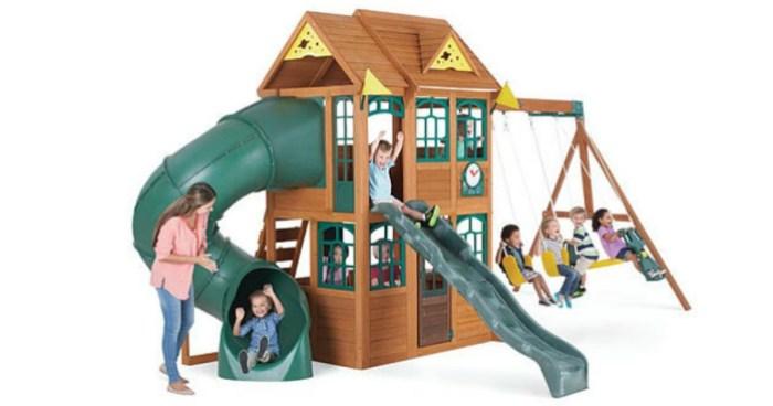 Toysrus Cedarbrook Wood Gym Set Only 49999 Regularly 64999