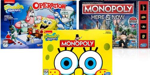 ToysRUs: Select Board Games ONLY $7 (SpongeBob SquarePants Operation, Monopoly & More)