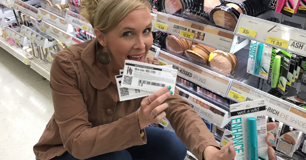 woman holding coupon