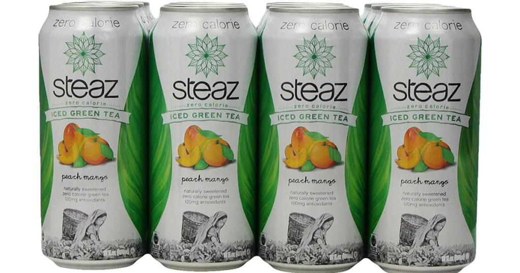 12-Pack of Steaz Zero Calorie Iced Peach Mango Green Tea