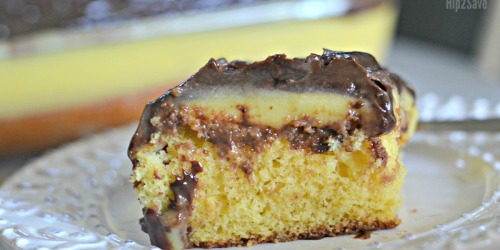 Easy Boston Cream Poke Cake Recipe
