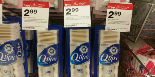 Target: $5 Gift Card When You Purchase 4 Select Unilever Products = HOT Deal On Q-Tips