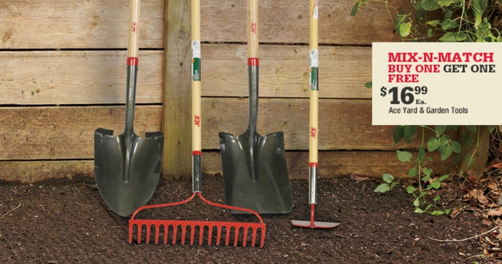 Ace Hardware Buy 1 Get 1 Free Garden Tools Choose From Shovels