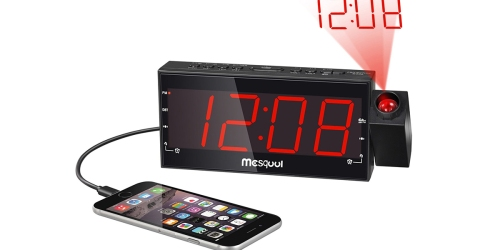 Amazon: Digital Projection LED Alarm Clock Radio Only $17.63 (Regularly $27.99+)