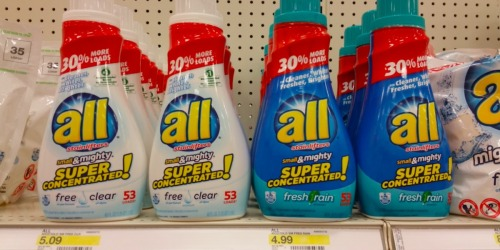 Target: All Small & Mighty Free Clear 40oz Laundry Detergent Bottles Only $3.07 Each