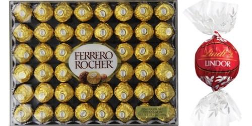 YUM! Amazon Extra 25% Off Chocolate Sale: Nice Buys on Ferrero Rocher, Lindt Lindor & More