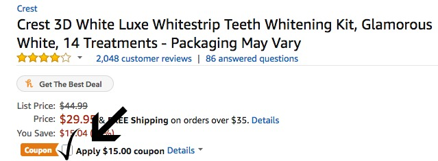 1ee018a9f Amazon: Crest 3D No Slip Whitestrips (14 Treatments) ONLY $14.95 ...