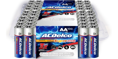 Amazon Prime: ACDelco 100 Count AA Batteries Only $10.99 Shipped (Just 11¢ Each)