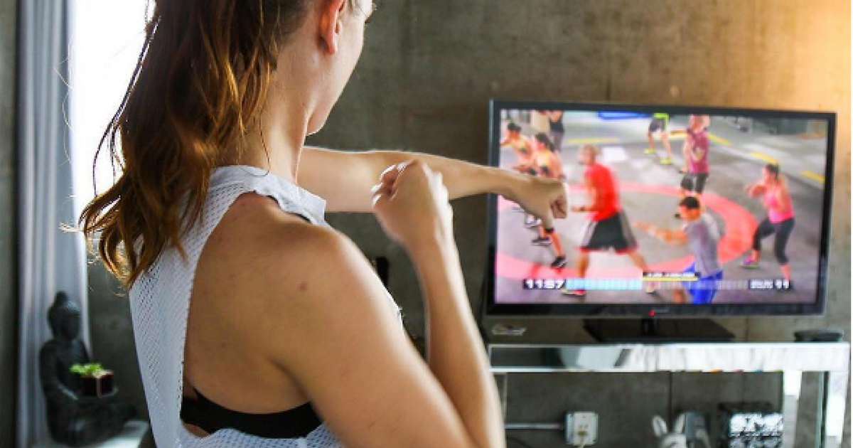 free beachbody on demand trial – exercising to the video