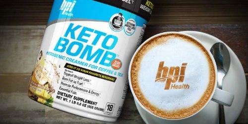 BPI Sports: 50% Off Entire Purchase = Keto Bomb Creamer Just $22.50 (Regularly $44.99)