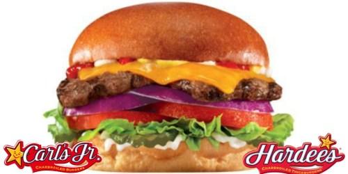 Carl's Jr. or Hardee's: Buy 1 Get 1 Free Single Natural Burger Coupon