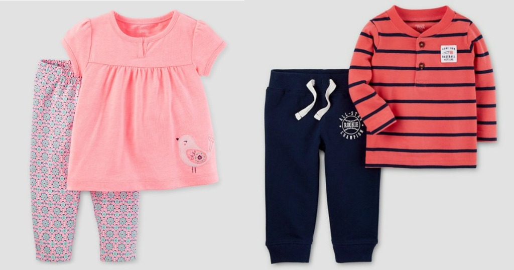 14dbd4033e5 Target  Extra 20% Off Kids  Clearance Clothing   Carter s 2-Piece Sets Only   5.58