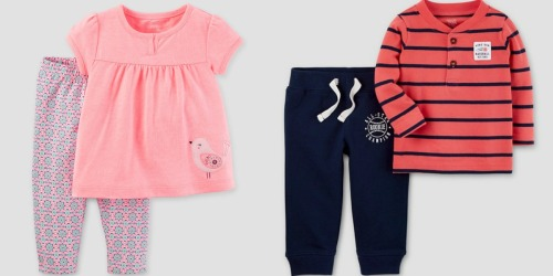 Target: Extra 20% Off Kids' Clearance Clothing = Carter's 2-Piece Sets Only $5.58