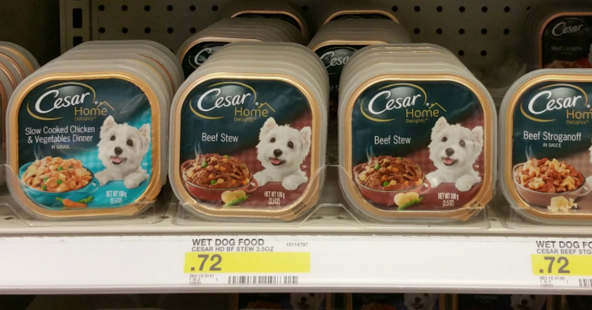 image relating to Caesars Dog Food Printable Coupons called Clean $2/10 Cesar Solitary Trays Coupon \u003d Just 47¢ For every Tray At