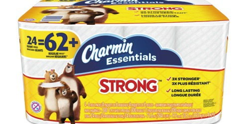 Staples: Charmin Essentials Strong Toilet Paper 24 Giant Rolls Only $9.99 (= 62 Regular Rolls)
