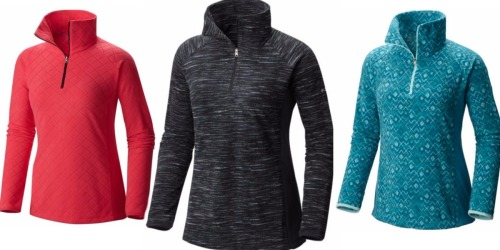 Columbia Women's Fleece Half-Zip Pullover Only $19.90 Shipped (Regularly $50)