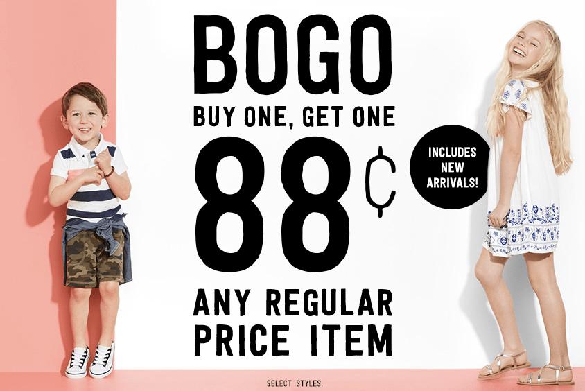 Crazy 8 BOGO 88¢ Sale