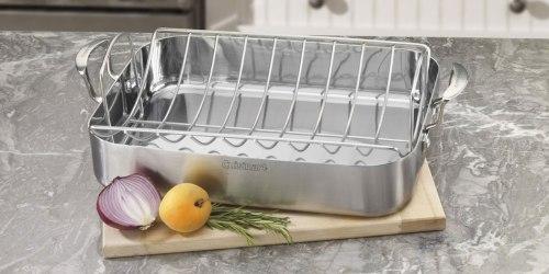 Amazon: Cuisinart Pro 16″ Roaster Pan w/ Rack Just $47.40 Shipped (Regularly $180)