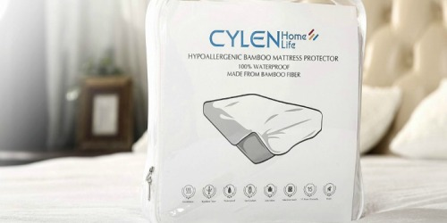 Amazon: Cylen Hypoallergenic Bamboo Infused Waterproof Mattress Pad Cover As Low As $20