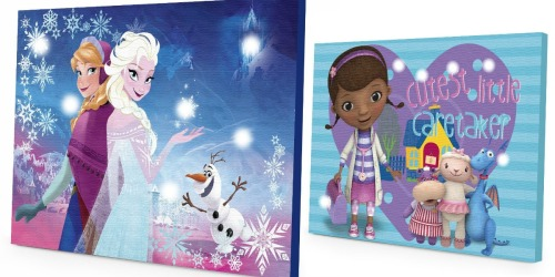 Disney Light-Up Canvas Wall Art Starting at Just $3.85 – Frozen & Doc McSuffins