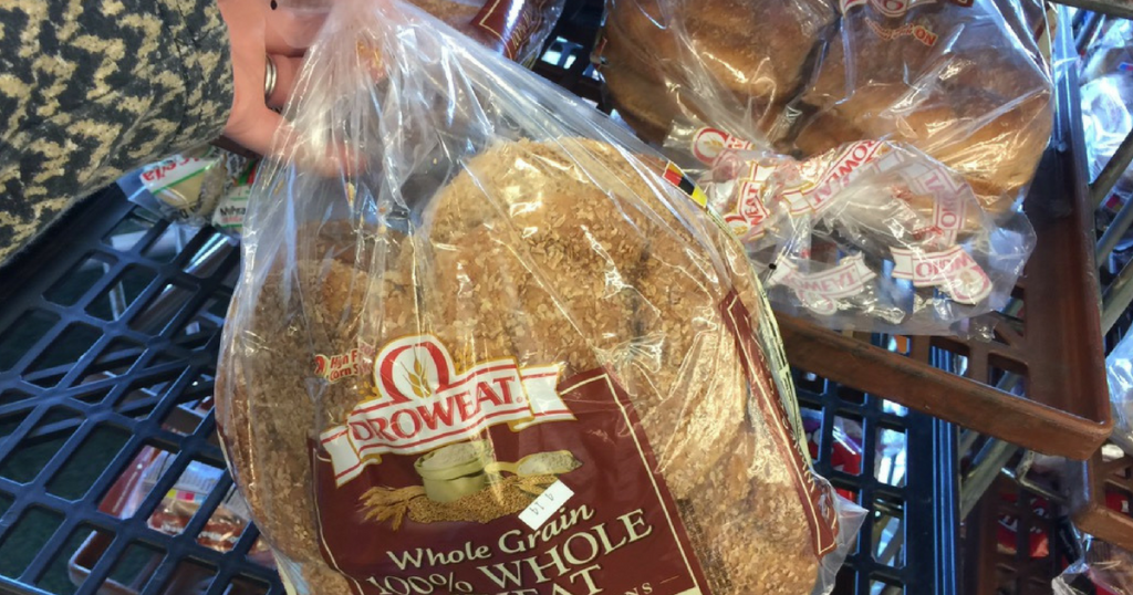 grabbing bag of Oroweat bread at Dollar Tree