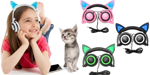 Amazon: Cat Ear Headphones Only $12.59