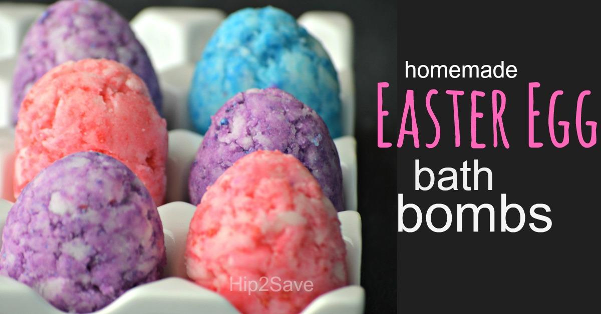 bath bomb diy easter eggs