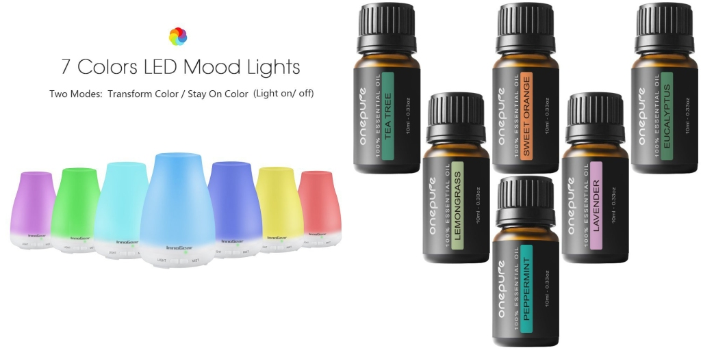 Essential Oil Diffuser with oils