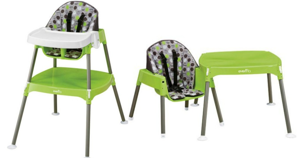 Evenflo Convertible High Chair in Dottie Lime