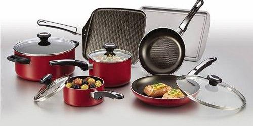 Kohl's Cardholders: Farberware 17 Piece Nonstick Cookware Set $26 Shipped After Rebate (Reg. $150)