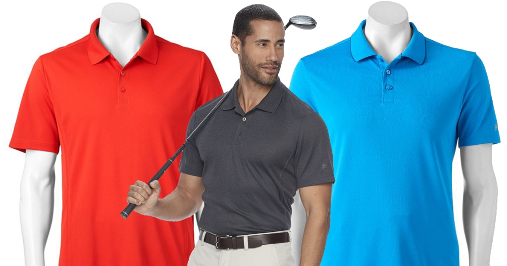 9277723f9aa8 Kohl s Cardholders  Men s FILA Golf Polo Shirts Only  7 Each Shipped ...