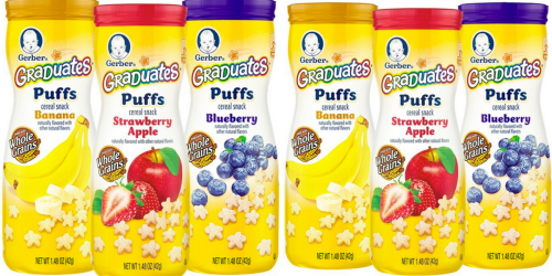 Amazon Prime: Gerber Graduates Puffs 6-Count Only $6.82 Shipped (Just $1.14 Each)