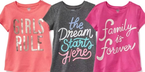 Old Navy, GAP & Banana Republic: 40% Off Purchases = Girl's Graphic Tees Only $4.80