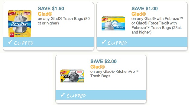 Glad Trash Bag Coupons